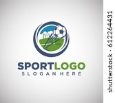 sport football logo template... | Shutterstock .eps vector #612264431