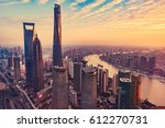 aerial view of shanghai city. | Shutterstock . vector #612270731