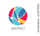 abstract circle   vector logo... | Shutterstock .eps vector #612275321