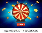 wheel of fortune with gold... | Shutterstock .eps vector #612285635