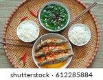vietnam family lunch set for... | Shutterstock . vector #612285884