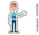 happy man cartoon icon image  | Shutterstock .eps vector #612290984