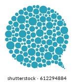 vector talking ballons.... | Shutterstock .eps vector #612294884