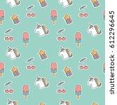 quirky cartoon patch | Shutterstock .eps vector #612296645