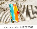 Beach Towels Draped Over A...