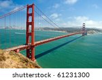 the golden gate bridge in san...   Shutterstock . vector #61231300