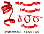 curled ribbons. collection of... | Shutterstock .eps vector #612317129
