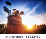 professional golf gear on the... | Shutterstock . vector #61232482