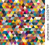 abstract geometric colorful...   Shutterstock .eps vector #612326789