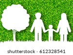 happy family concept vector... | Shutterstock .eps vector #612328541