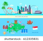 two horizontal colored... | Shutterstock .eps vector #612335831