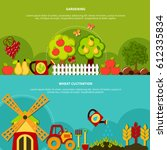 agriculture horizontal banners... | Shutterstock .eps vector #612335834