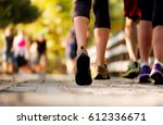 close up of the legs of woman...   Shutterstock . vector #612336671