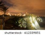 waterfall during sunset   Shutterstock . vector #612339851