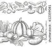 monochrome sketch style... | Shutterstock .eps vector #612359081