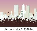 editable vector silhouette of a ... | Shutterstock .eps vector #61237816