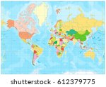 political world map and... | Shutterstock .eps vector #612379775