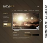 vector website design template | Shutterstock .eps vector #61238152