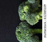 fresh broccoli | Shutterstock . vector #612385109