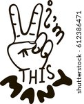 i'm this many. vector... | Shutterstock .eps vector #612386471