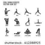 cool down warm up exercise... | Shutterstock .eps vector #612388925