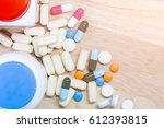 colorful medicine with free... | Shutterstock . vector #612393815