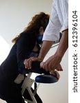 business woman receiving...   Shutterstock . vector #612396104