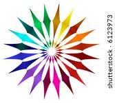abstract fractal kaleidoscopic... | Shutterstock . vector #6123973