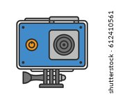 action camera in protection... | Shutterstock .eps vector #612410561