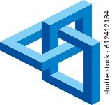 cube vector logo for... | Shutterstock .eps vector #612412184