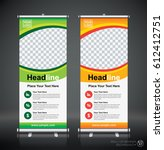 roll up brochure flyer banner... | Shutterstock .eps vector #612412751