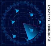 blue radar screen detecting a...
