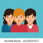 businesspeople character avatar ... | Shutterstock .eps vector #612421517