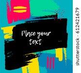 modern colorful flyer... | Shutterstock .eps vector #612421679