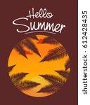 vector an inscription the hello ... | Shutterstock .eps vector #612428435