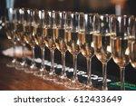 Line Of Champagne Glasses