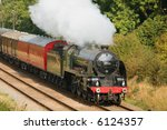 steam train - stock photo