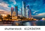 the skyline of doha city center ... | Shutterstock . vector #612436544