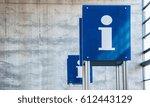 help desk  information sign at... | Shutterstock . vector #612443129