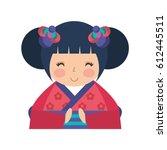 Cute Japanese Doll Icon