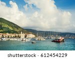 landing stage in adriatic ... | Shutterstock . vector #612454229