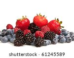 composition of ripe black and... | Shutterstock . vector #61245589
