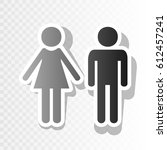 male and female sign. vector.... | Shutterstock .eps vector #612457241