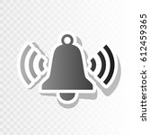 ringing bell icon. vector.... | Shutterstock .eps vector #612459365