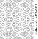 black and white seamless linear ... | Shutterstock .eps vector #612461351
