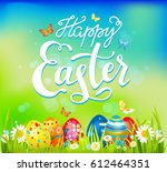 vector easter card | Shutterstock .eps vector #612464351