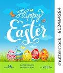 easter poster template | Shutterstock .eps vector #612464384