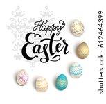easter eggs card | Shutterstock .eps vector #612464399