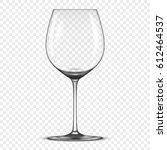 vector realistic empty wine...   Shutterstock .eps vector #612464537