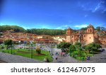 colorful hdr image of the city... | Shutterstock . vector #612467075